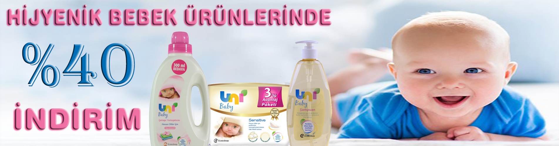 bebek ürünlerinde %40 indirim