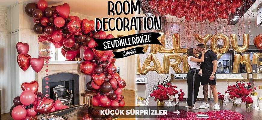 balon susleme surpriz hediye oda sevgili