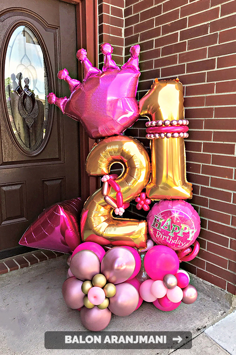 balon buket aranjman hediye