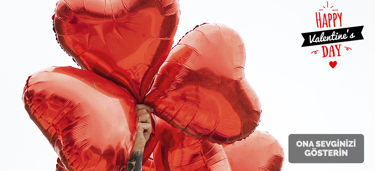 Sevgililer Gunu Valentines Day Hediye Sürpriz Balon 14 Subat