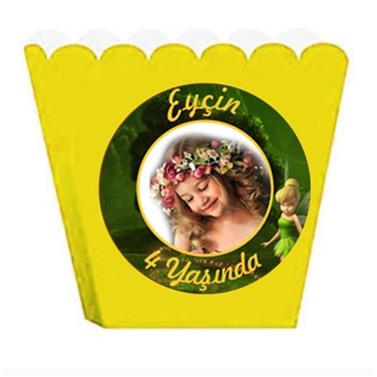Kişiye Özel Tinker Bell Temalı Popcorn Kutusu