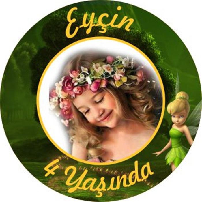 Kişiye Özel Tinker Bell Temalı Sticker