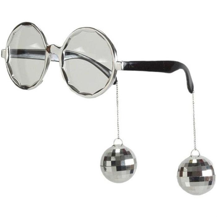 Gri Disko Küpeli Gözlük