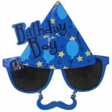 Birthday Boy Mavi Gözlük