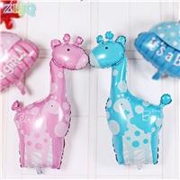 Zürafa Temalı Mavi Balon