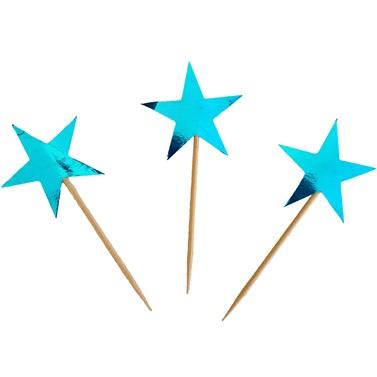 Mavi Yıldız Temalı Kürdan