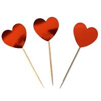 Kırmızı Kalp Temalı Kürdan