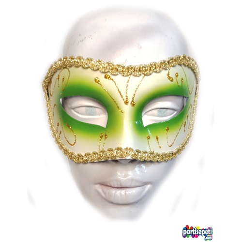 Yeşil Balo Maskesi