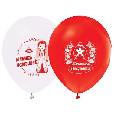 Kınamıza Hoş Geldiniz Yazılı Balon