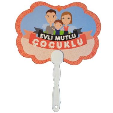 Evli Mutlu Çocuklu Yazılı Konuşma Balonları