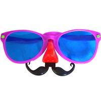 Fuşya Bıyıklı Parti Gözlüğü