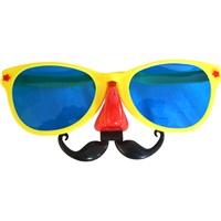 Sarı Renkli Bıyıklı Parti Gözlüğü