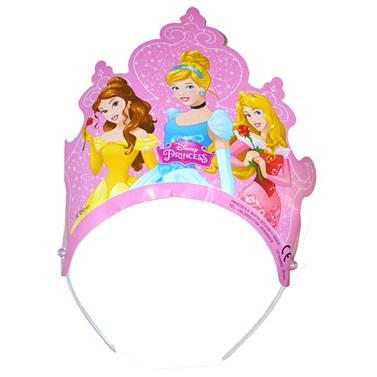 Prensesler Temalı Karton Taç
