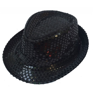 Pullu Siyah Şapka