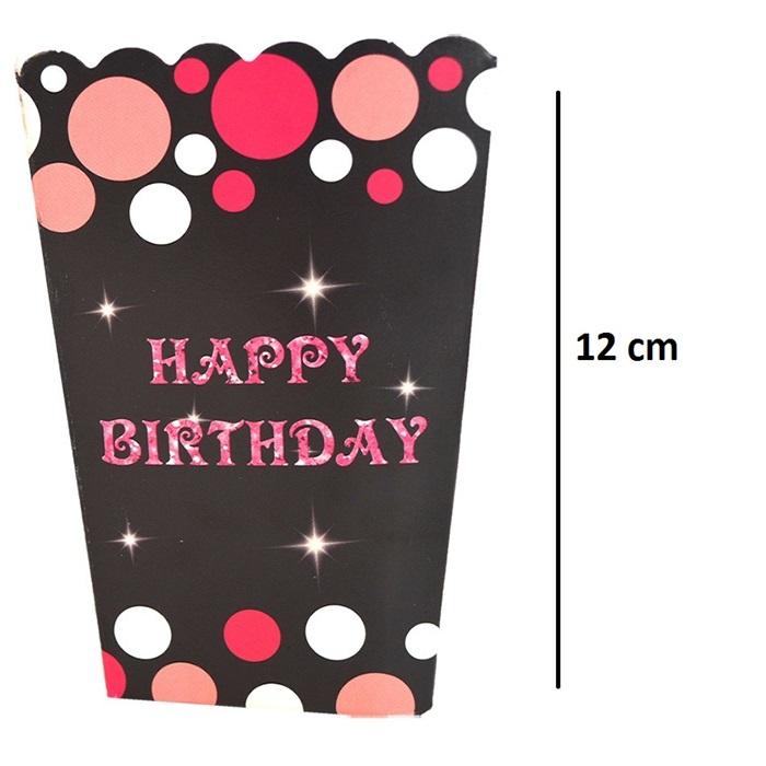 Happy Birthday Temalı Popcorn Kutusu