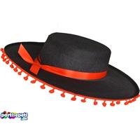Kırmızı Kurdaleli Siyah Şapka