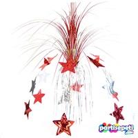 Yıldızlı Kırmızı Palmiye Süs