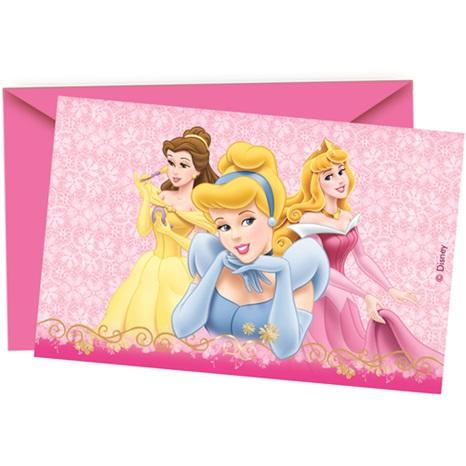 Prenses Temalı Güzel Davetiye (6 Ad)