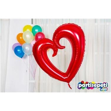 Kırmızı Büyük Kalp Balon