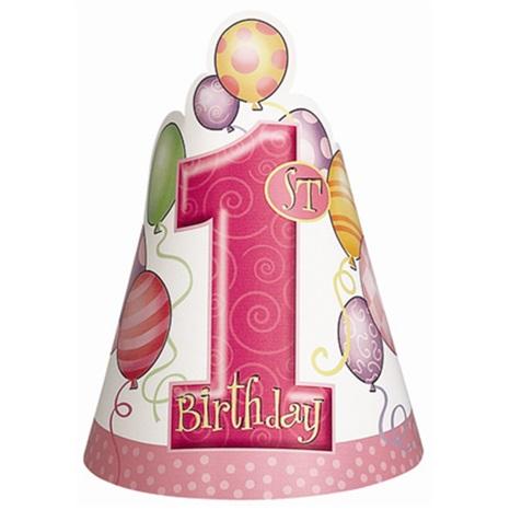 1 Yaş Temalı Kız Külah Şapka Balonlu