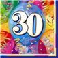 30 Yaş Temalı Renkli Peçete