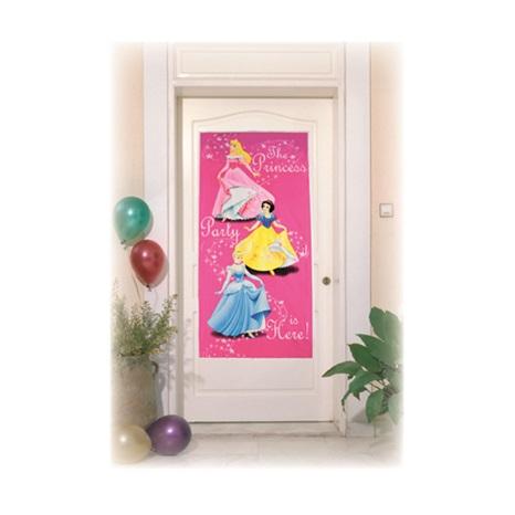 Prenses Temalı Kalpler Kapı Banner 76*152 Cm