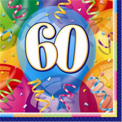 60 Yaş Temalı Kağıt Peçete