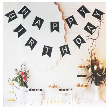 Yetişkin Gümüş Happy Birthday Yazı