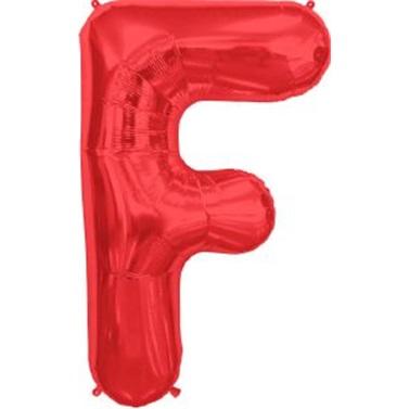 F Harf Kırmızı Folyo Balon
