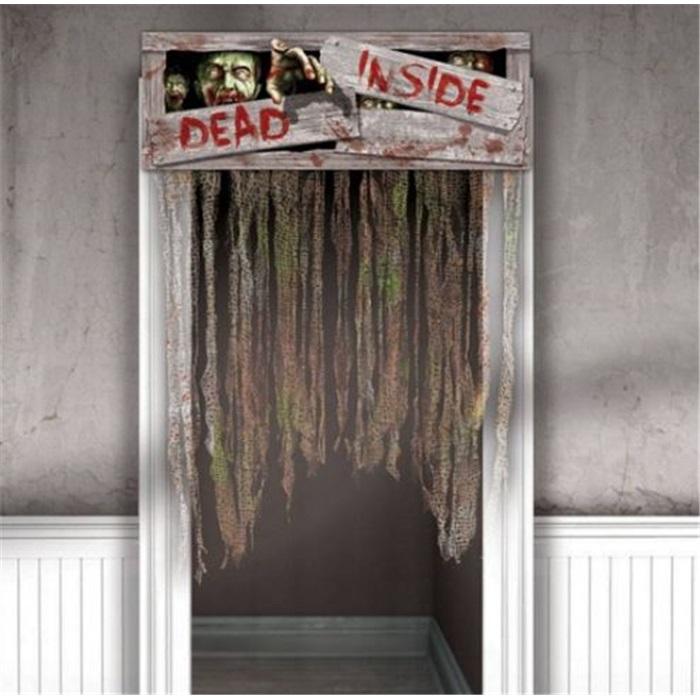 Cadılar  Bayramı Halloween Dead Insıde  Kapı Perdesi