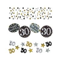 30 Yaş Gold Gümüş Masa Konfetisi