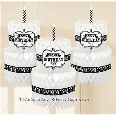 Happy Birthday Pastalı Temalı İp Süs