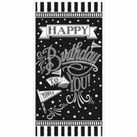 Siyah Beyaz Happy Birthday Duvar Afişi