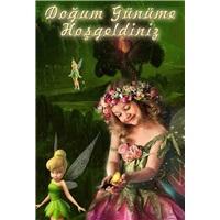 Tinker Bell Temalı Kişiye Özel Ayaklı Pano