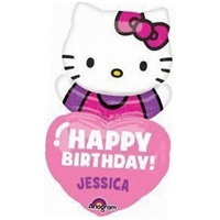 Hellok Kitty Temalı Kişiye Özel Folyo Balon
