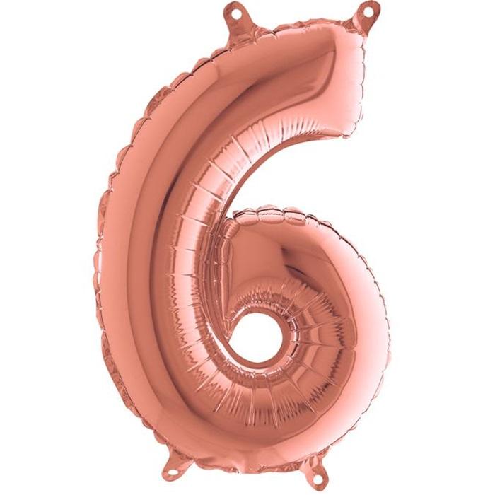 6 Rakam Rose Folyo Balon