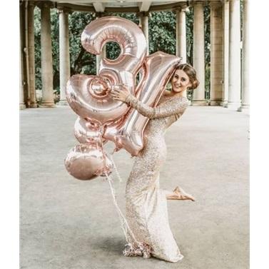 5 Rakam Rose Folyo Balon