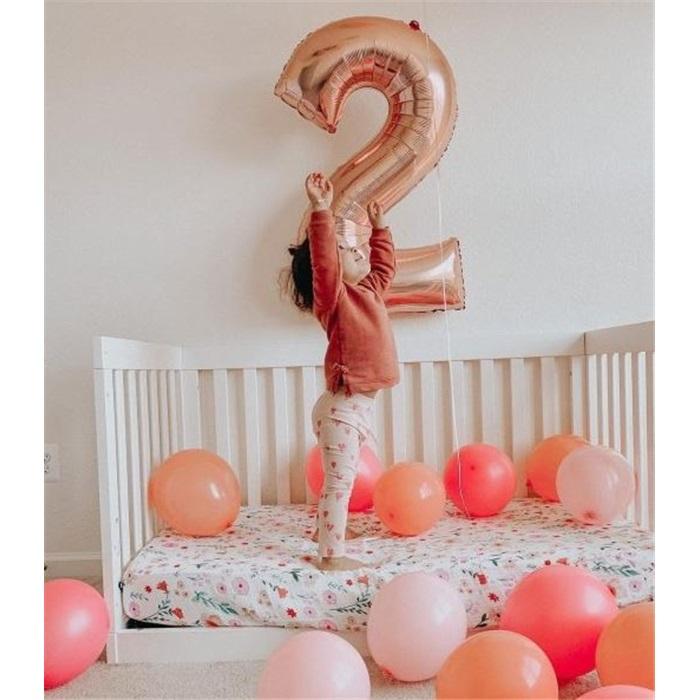 8 Rakam Rose Folyo Balon