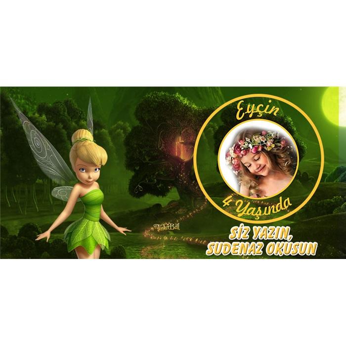Tinker Bell Temalı Kişiye Özel Anı Kartı