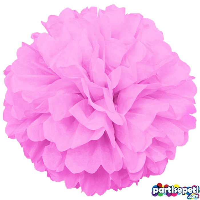 Toz Pembe Ponpon Çiçek