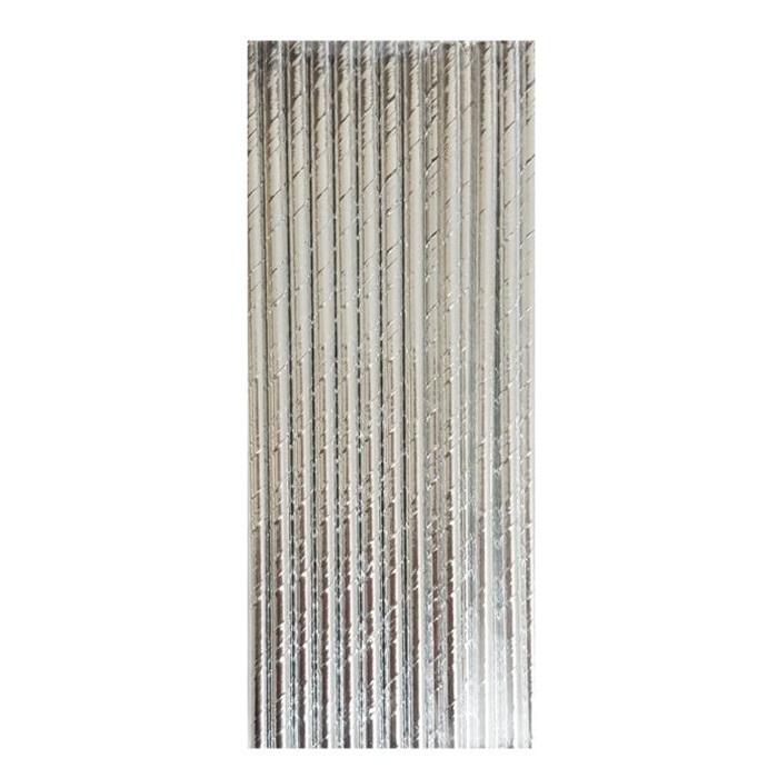 Gümüş Renkli Kağıt Pipet