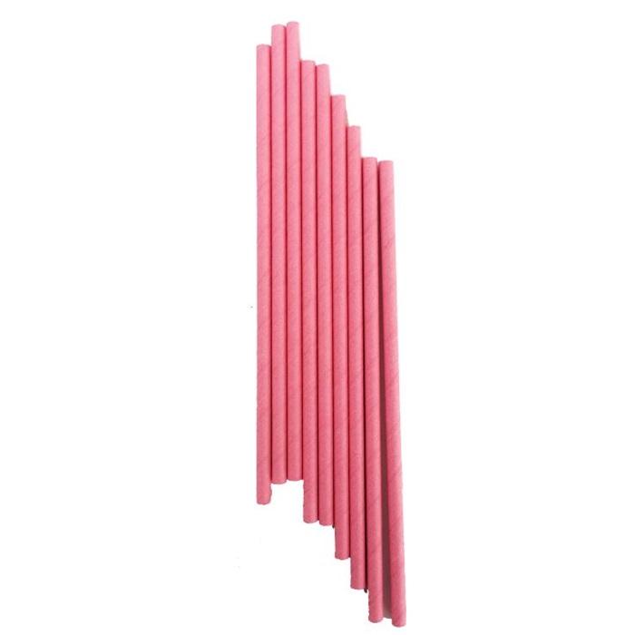 Pembe Kağıt Pipet