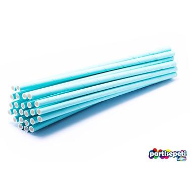 Mavi Kağıt Pipet