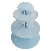 Mavi Yıldızlı Cupcake Standı
