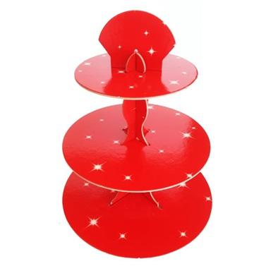 Kırmızı Yıldızlı Cupcake Standı