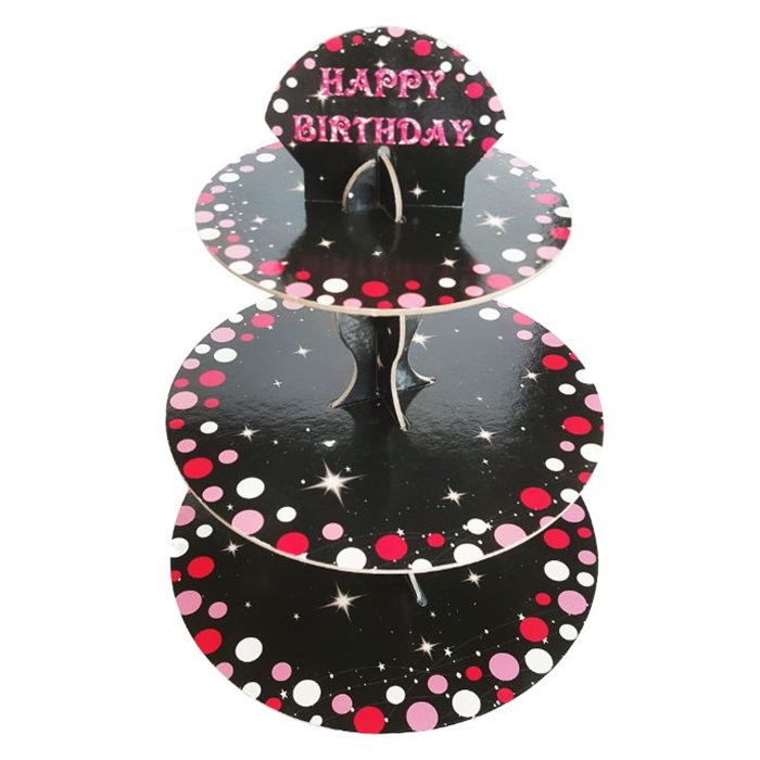 Fyşya Happy Birthday Cupcake Standı