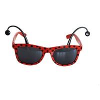 Kırmızı Siyah Benekli Parti Gözlük