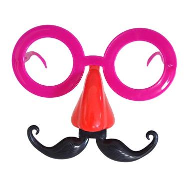 Fuşya Kırmızı Parti Gözlük