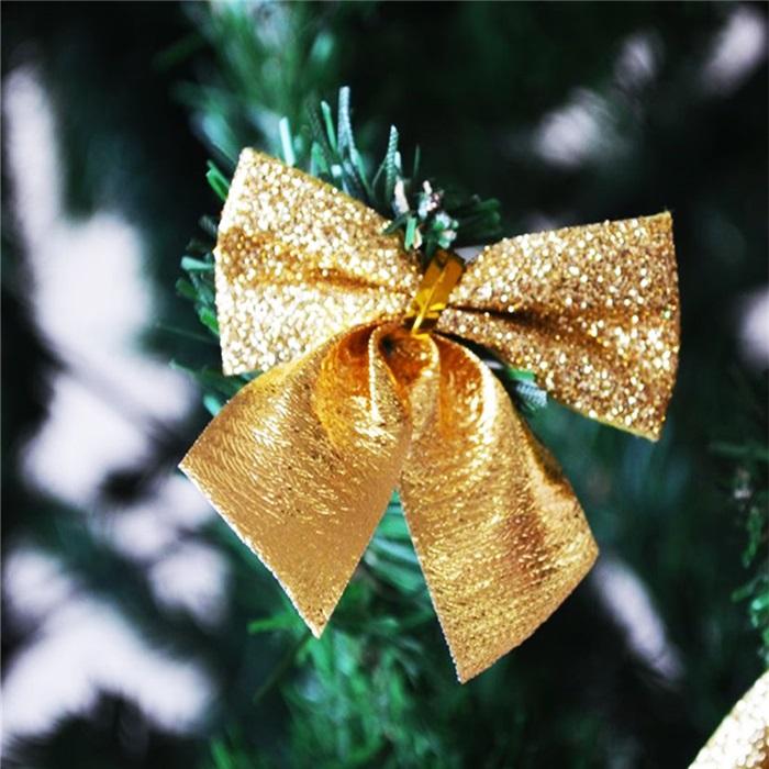 Yılbaşı Ağacı Gold Simli Kurdele Süs