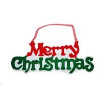 Merry Christmas Yazı Dekor Süs